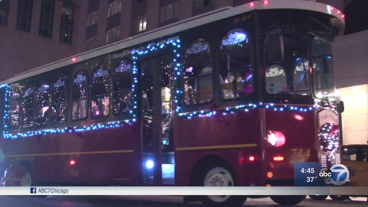 Get into a festive mood with a holiday lights tour