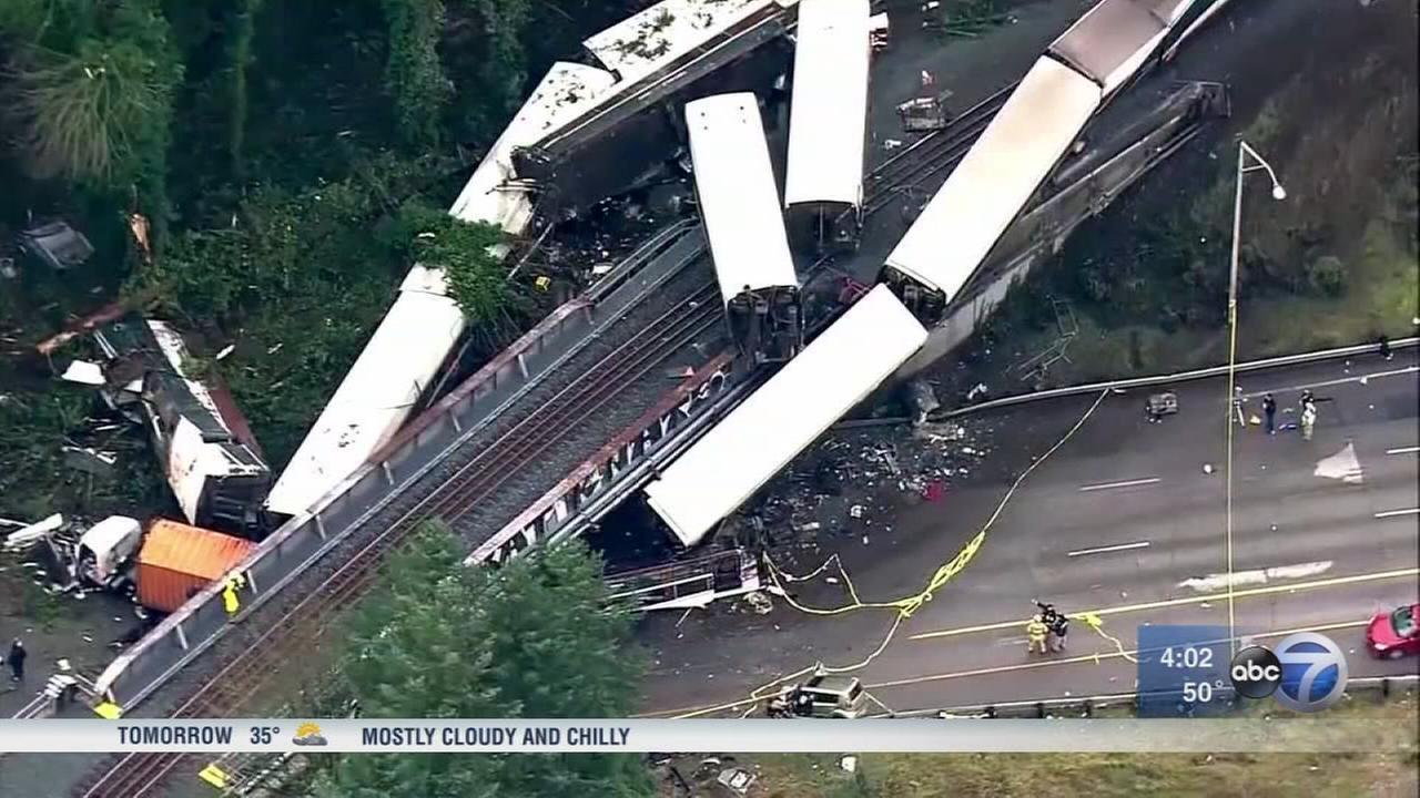 Amtrak derailment victim IDd; train was speeding 50 mph over limit