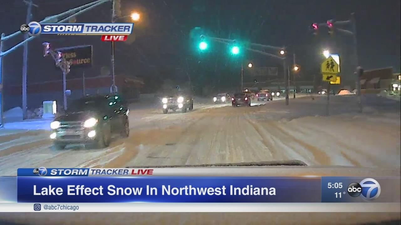 Lake Effect Snow in Indiana