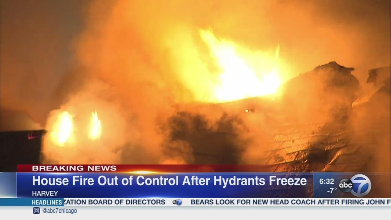 Harvey firefighter hurt; hydrants freeze