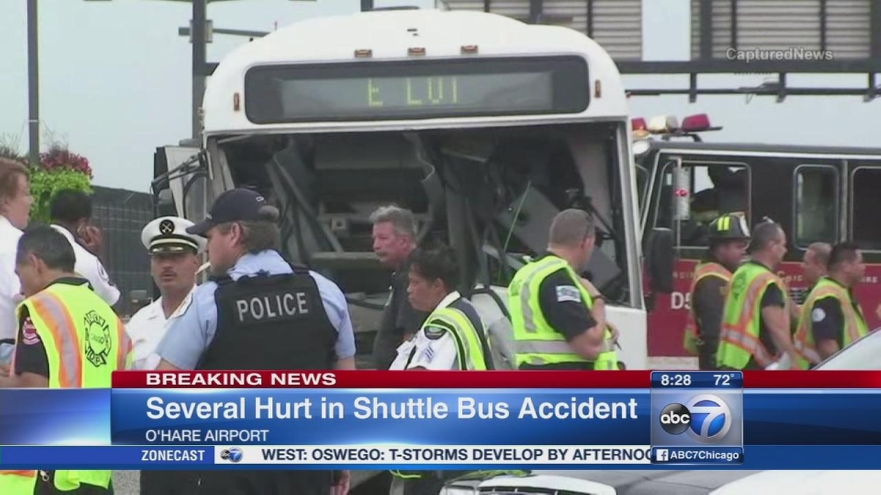 OHare shuttle bus crash injures at least 14
