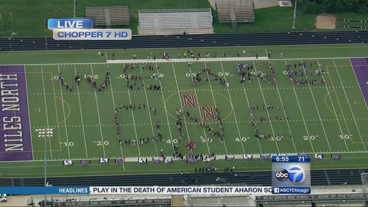 Friday Flyover Niles North High School
