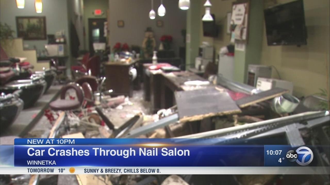 Car plows into Winnetka nail salon