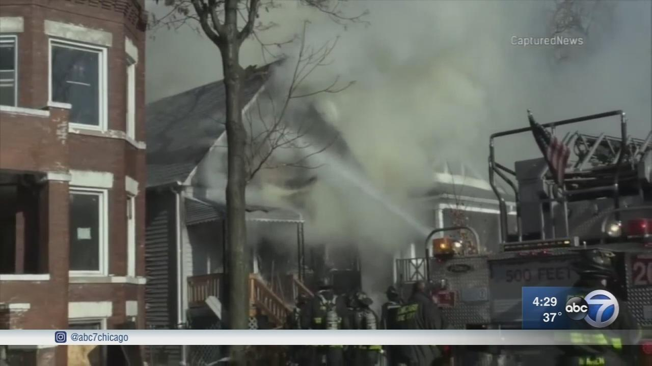3 firefighters among 4 injured in West Side house fire