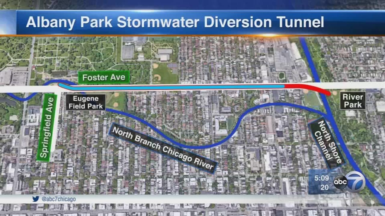 Albany Park stormwater tunnel nears completion