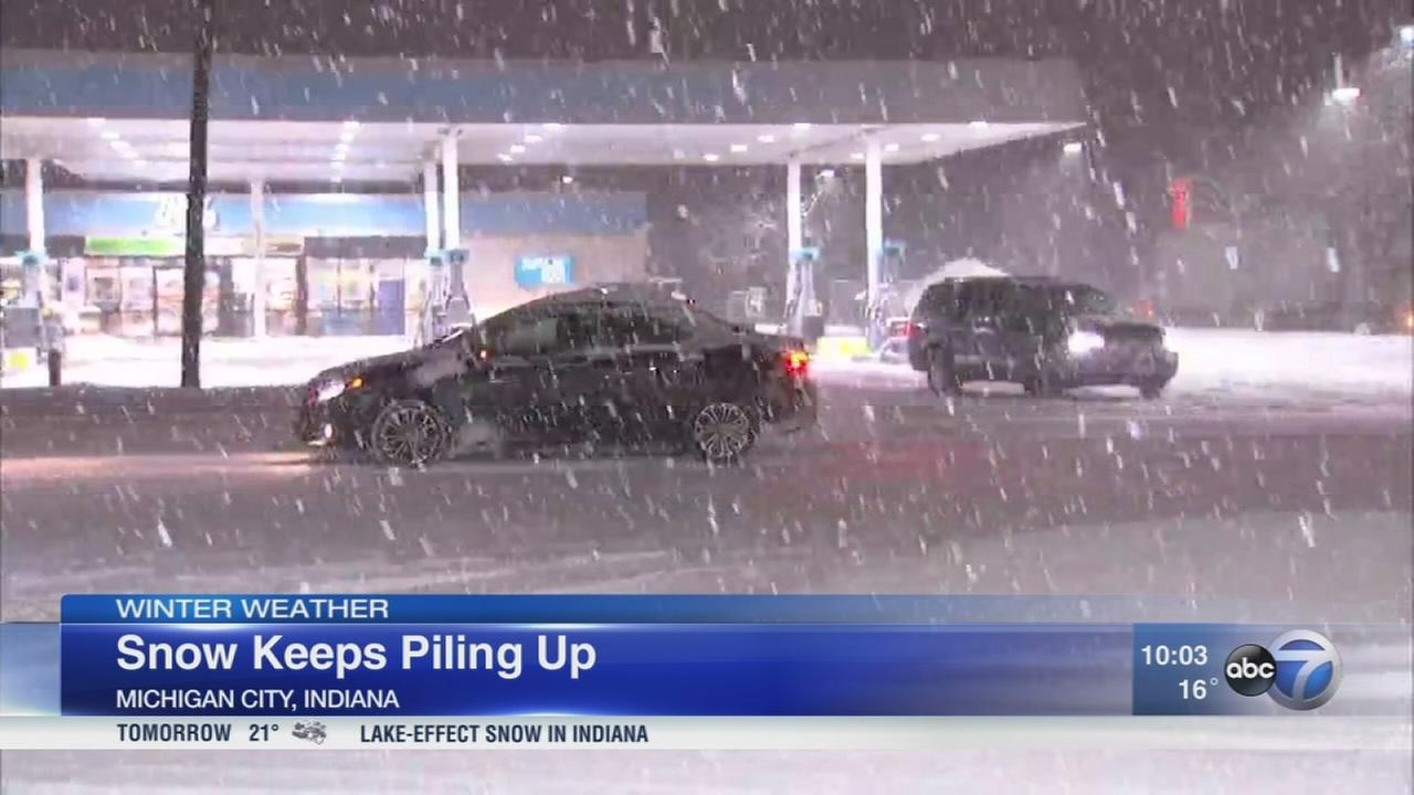More snow creates slick roads across Chicago area