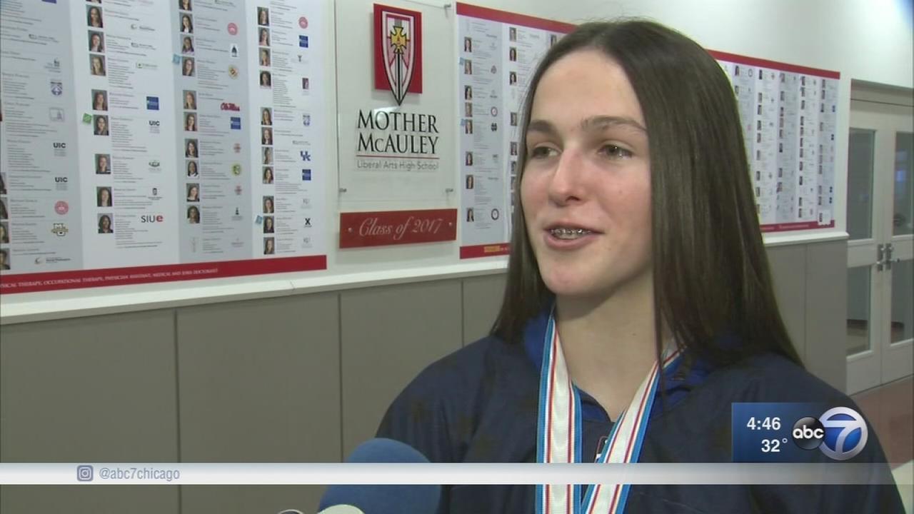 Mother McAuley sophomore returns home a world champion