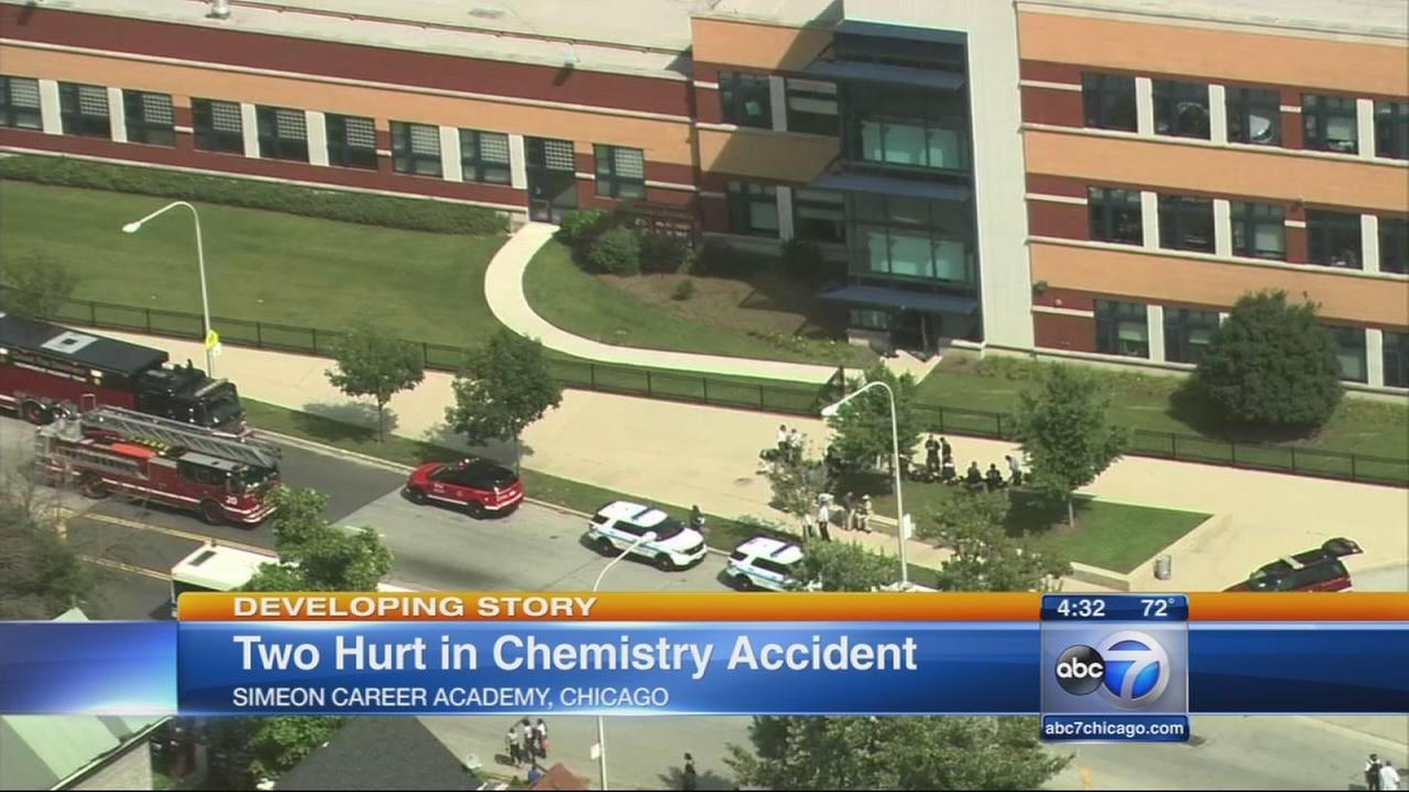 Simeon chemical spill sends 2 to hospital