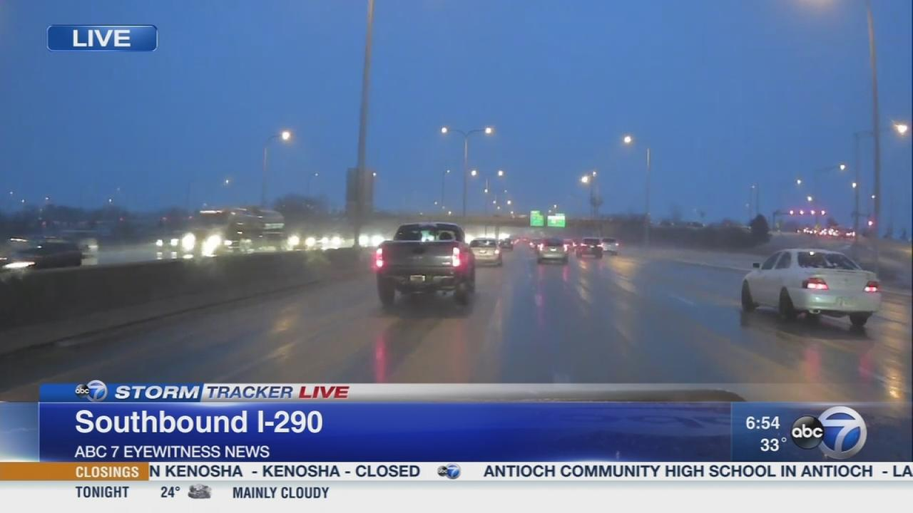 Snow, rain make for click Tuesday commute