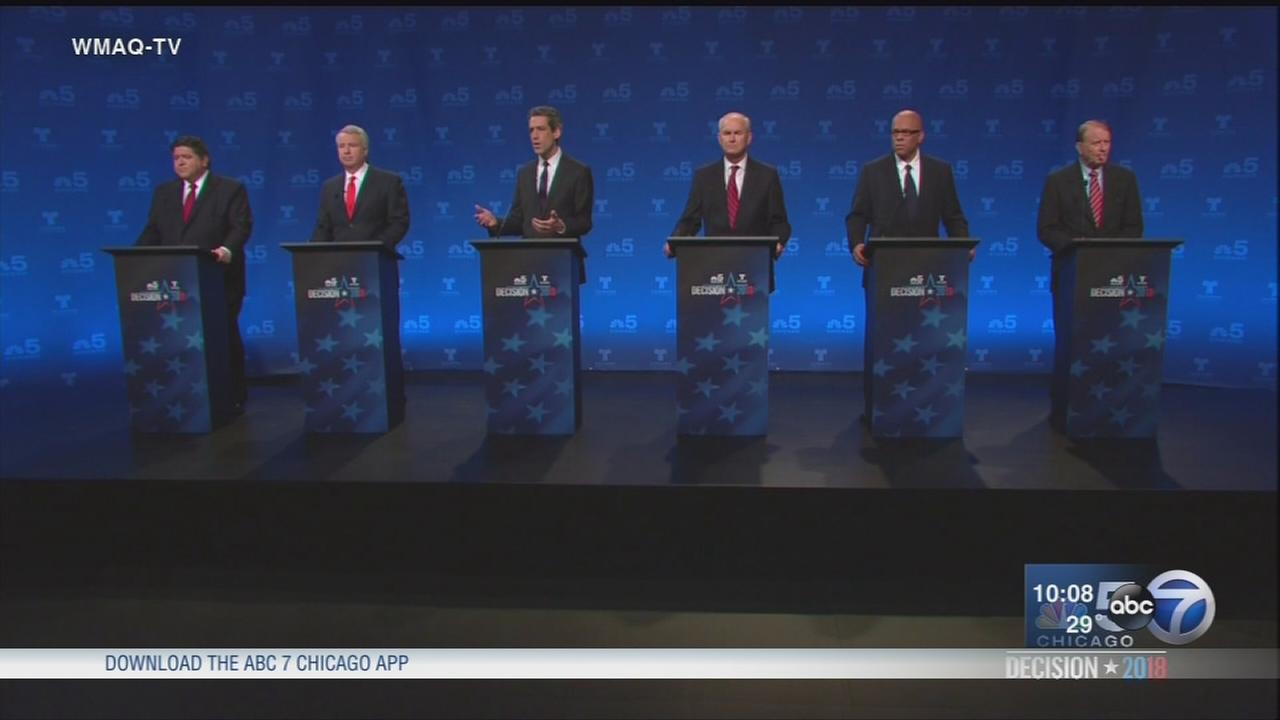 Democrat governor candidates hold first televised debate