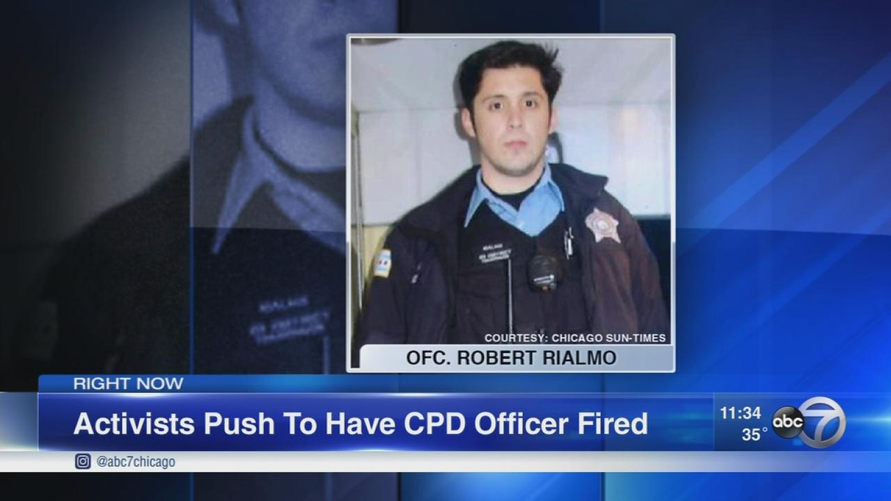 Protestors demand firing of CPD Officer Rialmo
