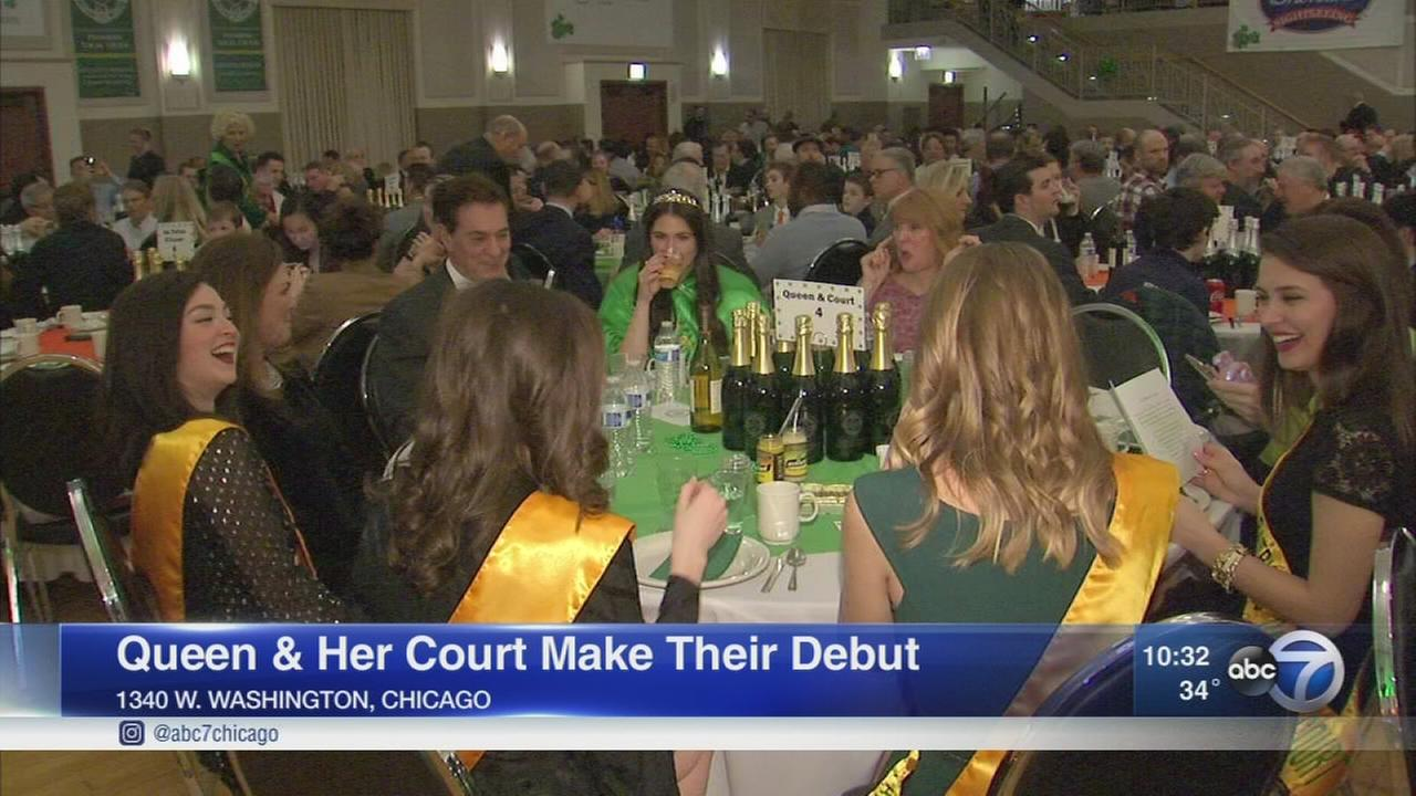 St. Patricks Day Queen and Court introduced