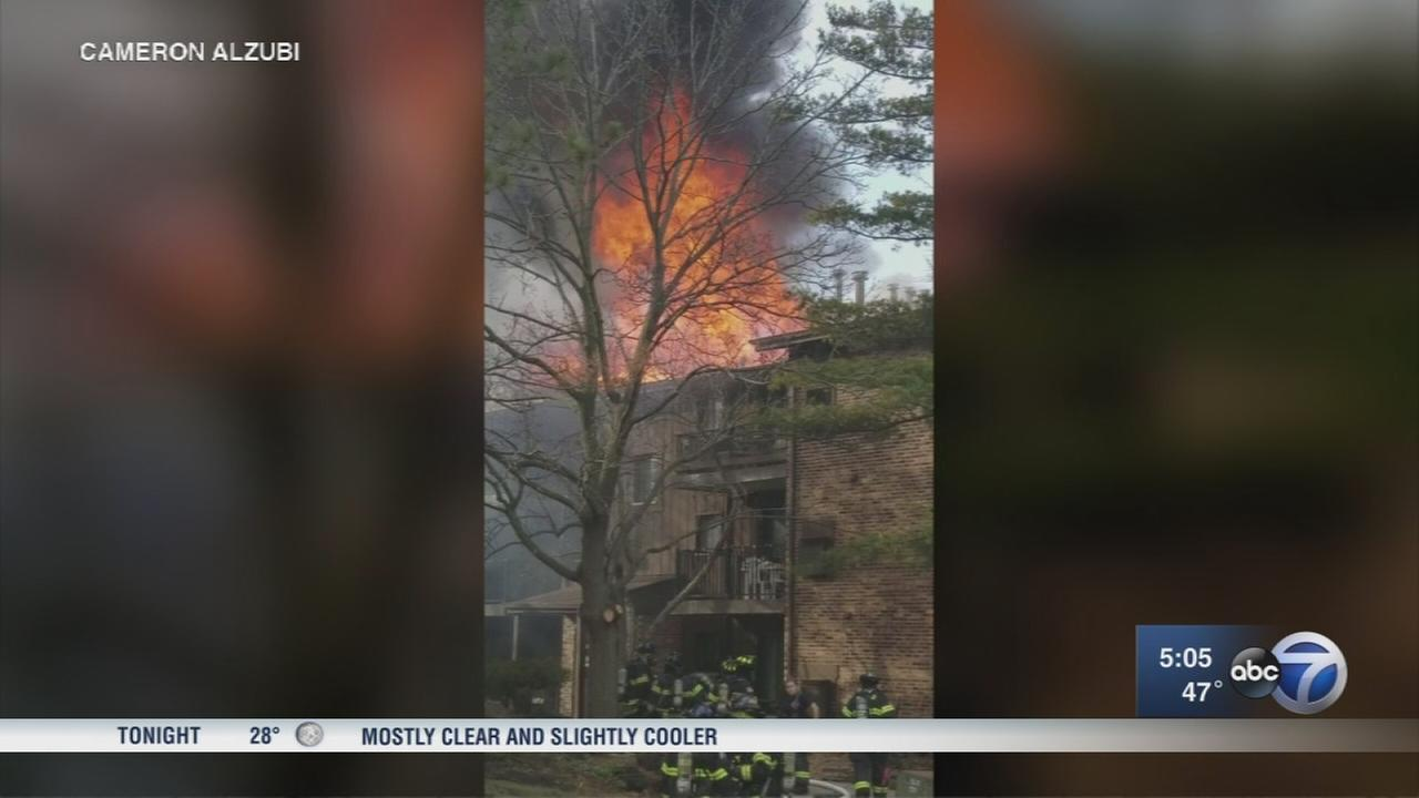 Westmont condo fire displaces residents