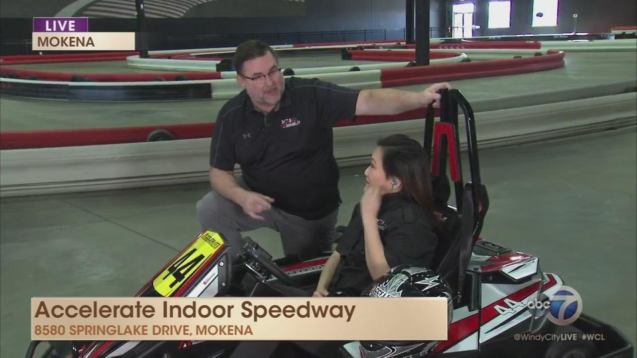 Ji visits Accelerate Indoor Speedway