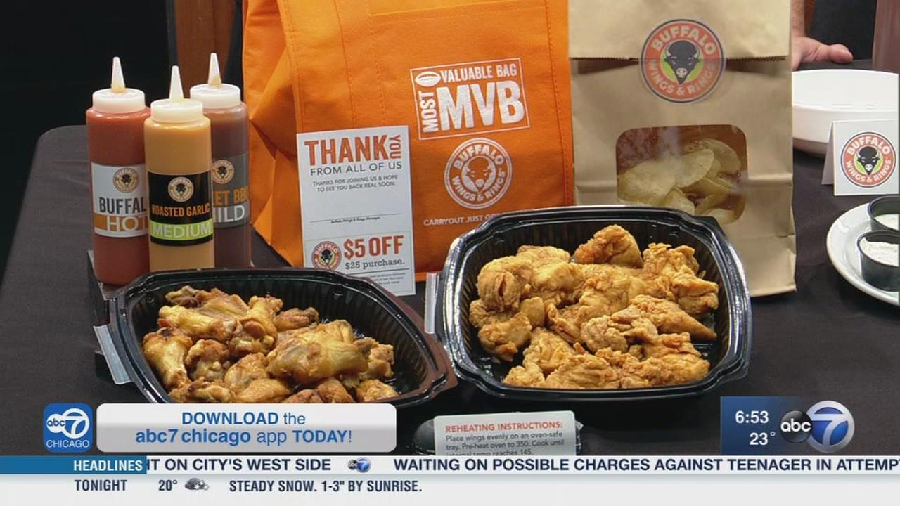 Get ready for the Super Bowl with Buffalo Wings and Rings