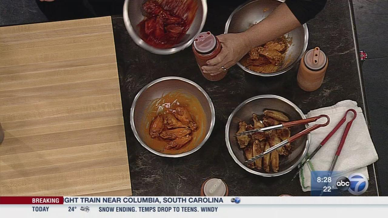 Properly-sauced wings for Super Bowl parties