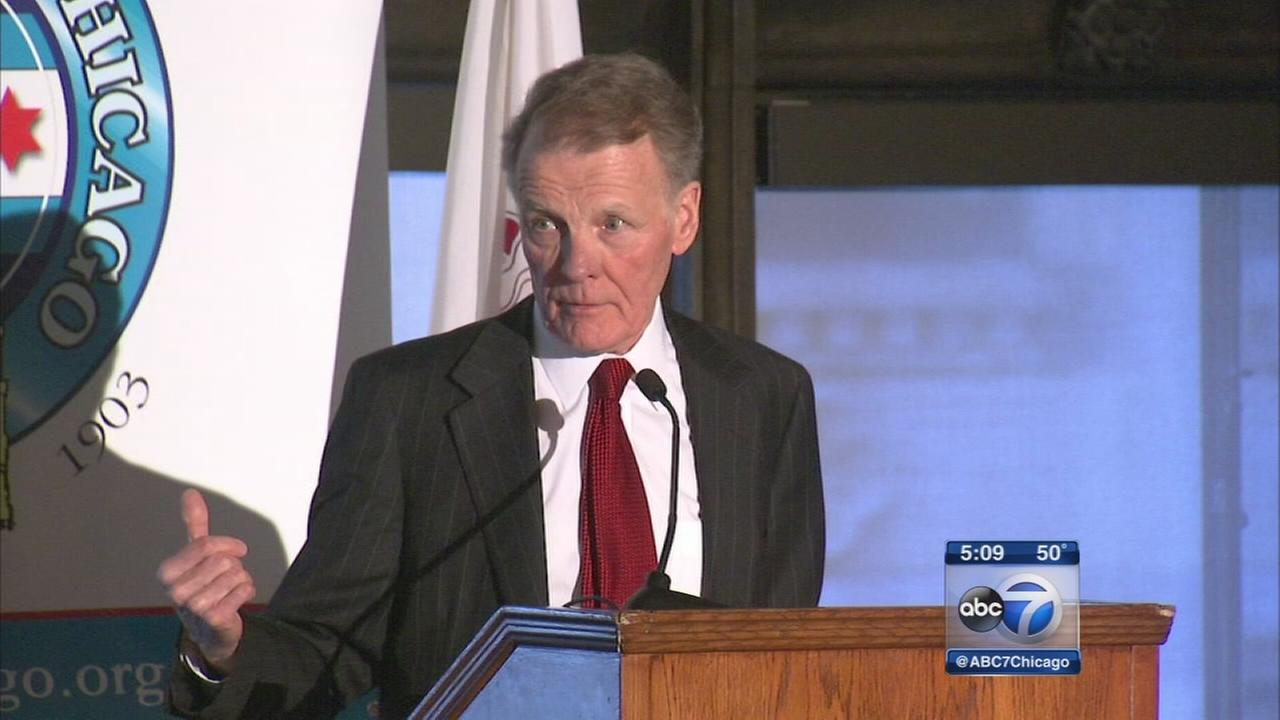 File: Michael Madigan speaking at the City Club of Chicago in December 2015.