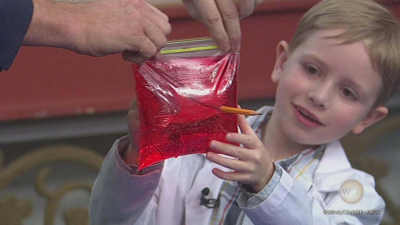 7-year-old Science Whiz Nate Butkus Performs an Experiment