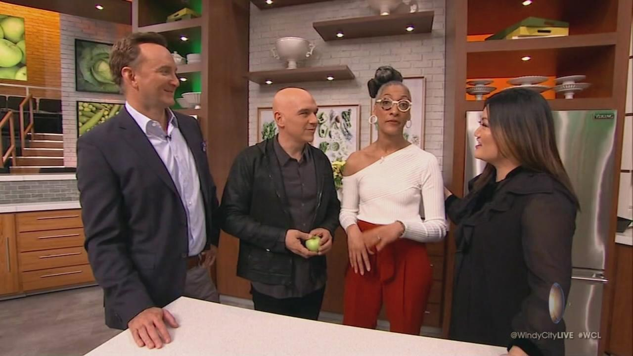 Ji behind the scenes at The Chew