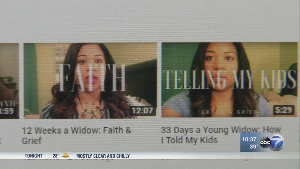 Chicago woman uses YouTube channel to heal after husbands death