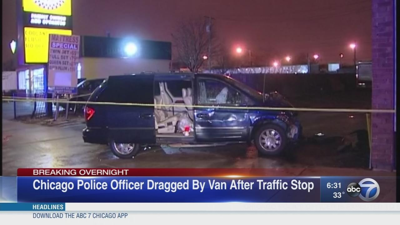 CPD officer dragged by van after traffic stop