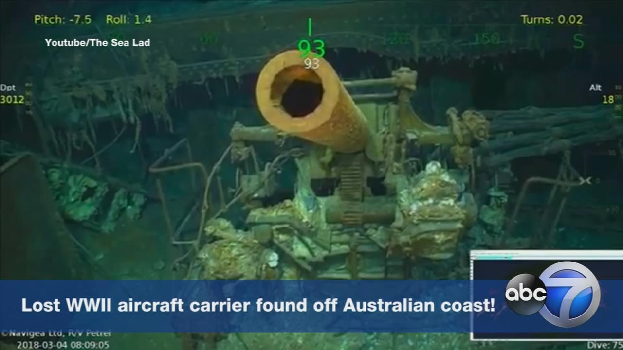 WWII aircraft carrier with Chicago ties found