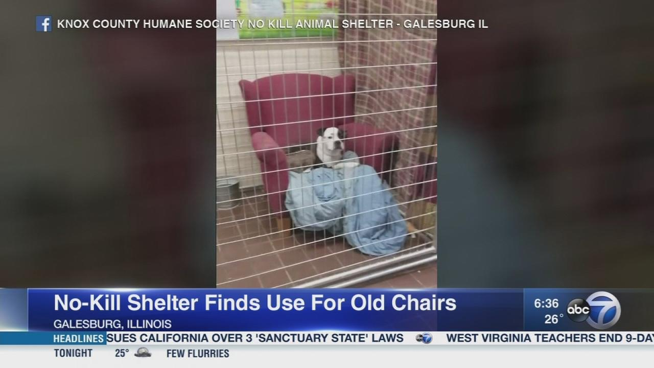 Galesburg shelter puts old chairs to use
