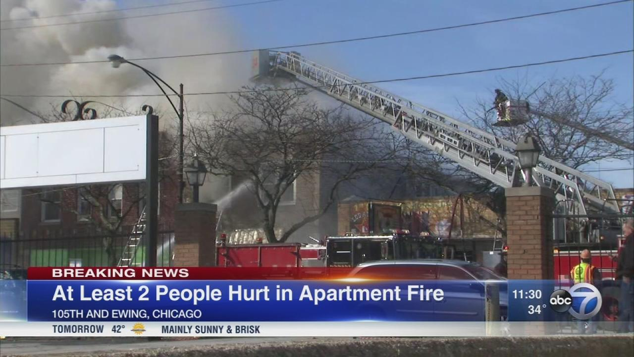 2 injured in extra-alarm East Side fire
