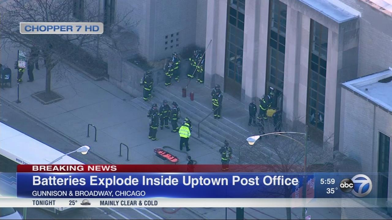 Fire official: Box of lithium batteries explodes in Uptown post office