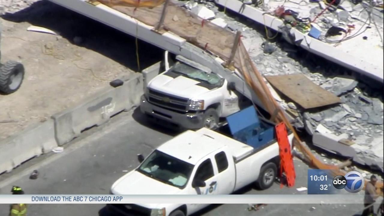 Bridge collapse kills 4 in Miami