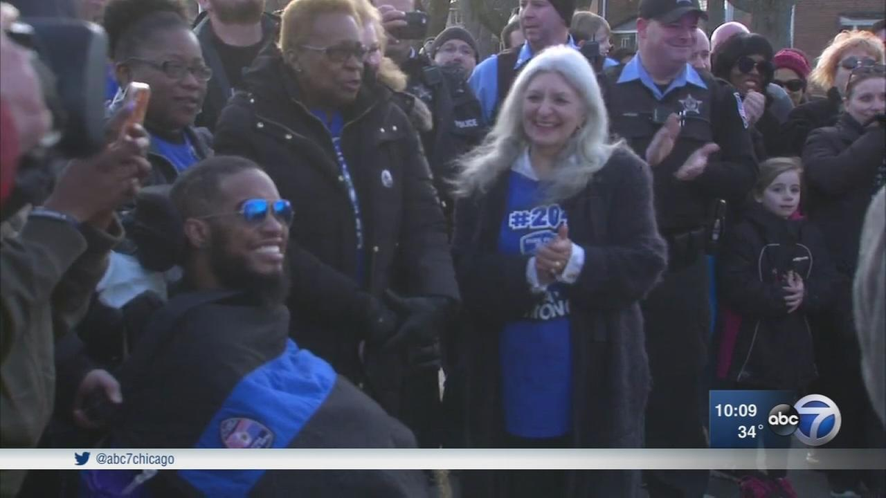 Park Forest honors police officer paralyzed in line of duty shooting