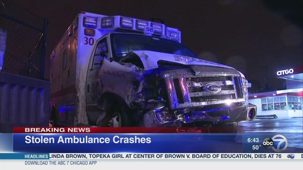Police: Man steals, crashes ambulance in Englewood