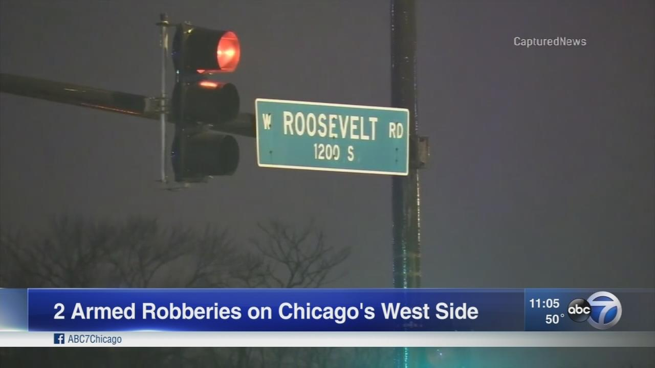 Man, woman shot in separate armed robberies on West Side