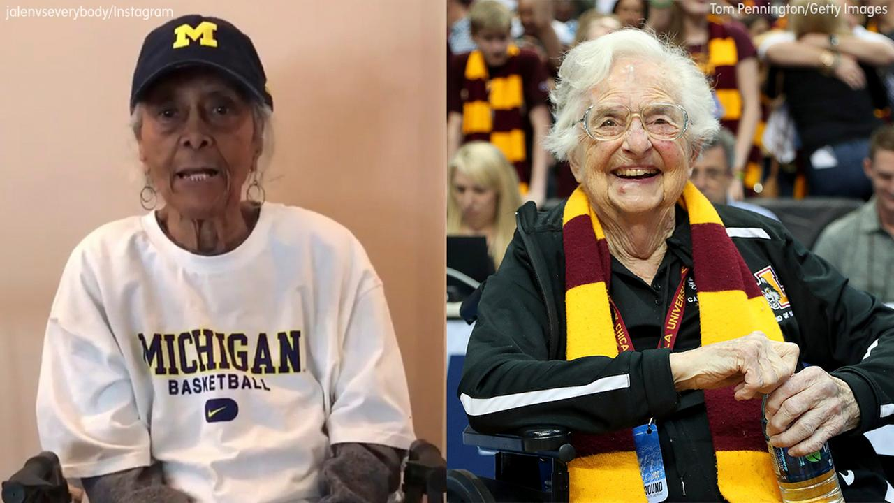 Image of Jalen Roses grandma and sister Jean of Loyola