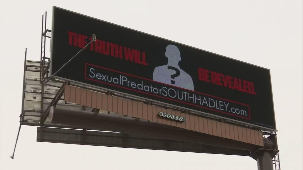 Woman takes out billboard against alleged abuser