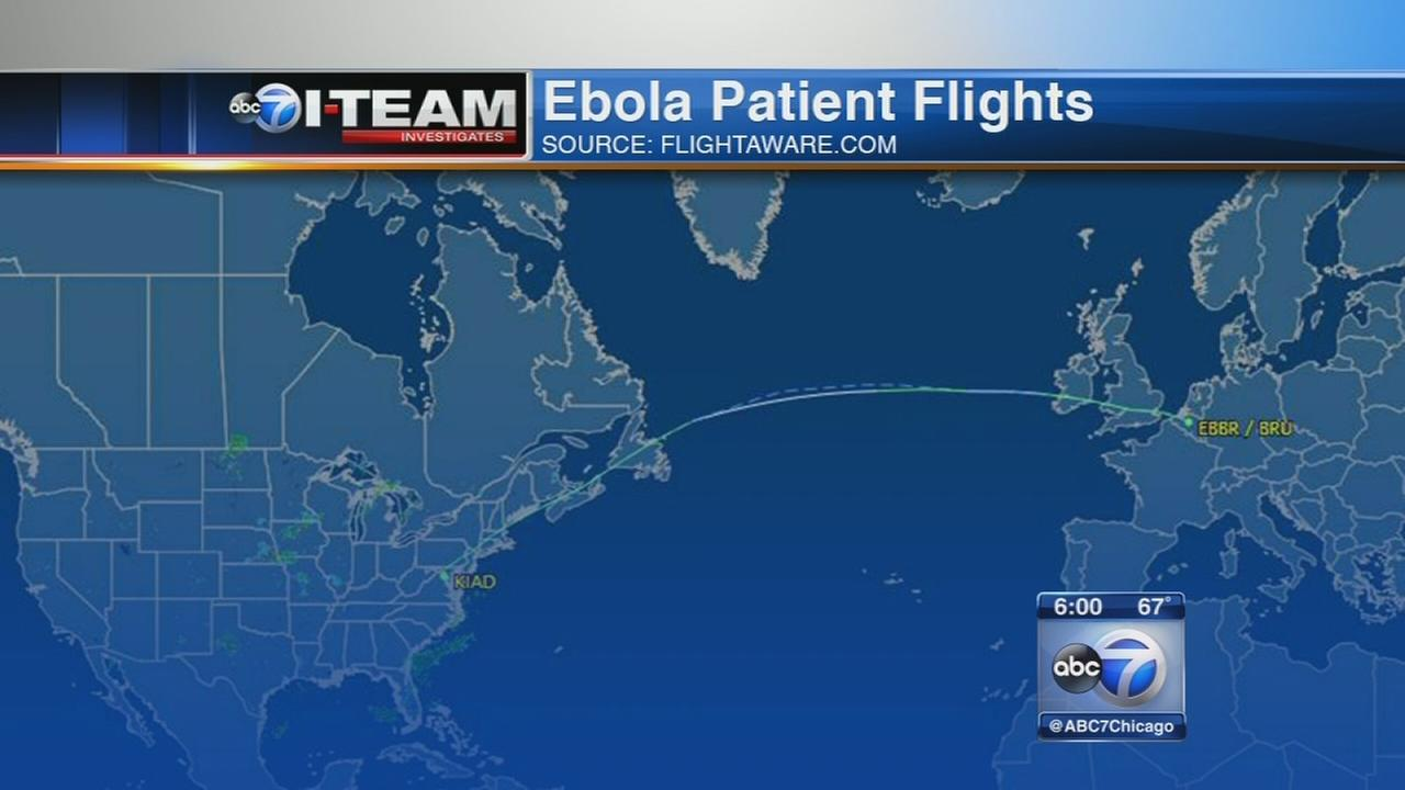 Planes that Ebola patient took have been in Chicago since
