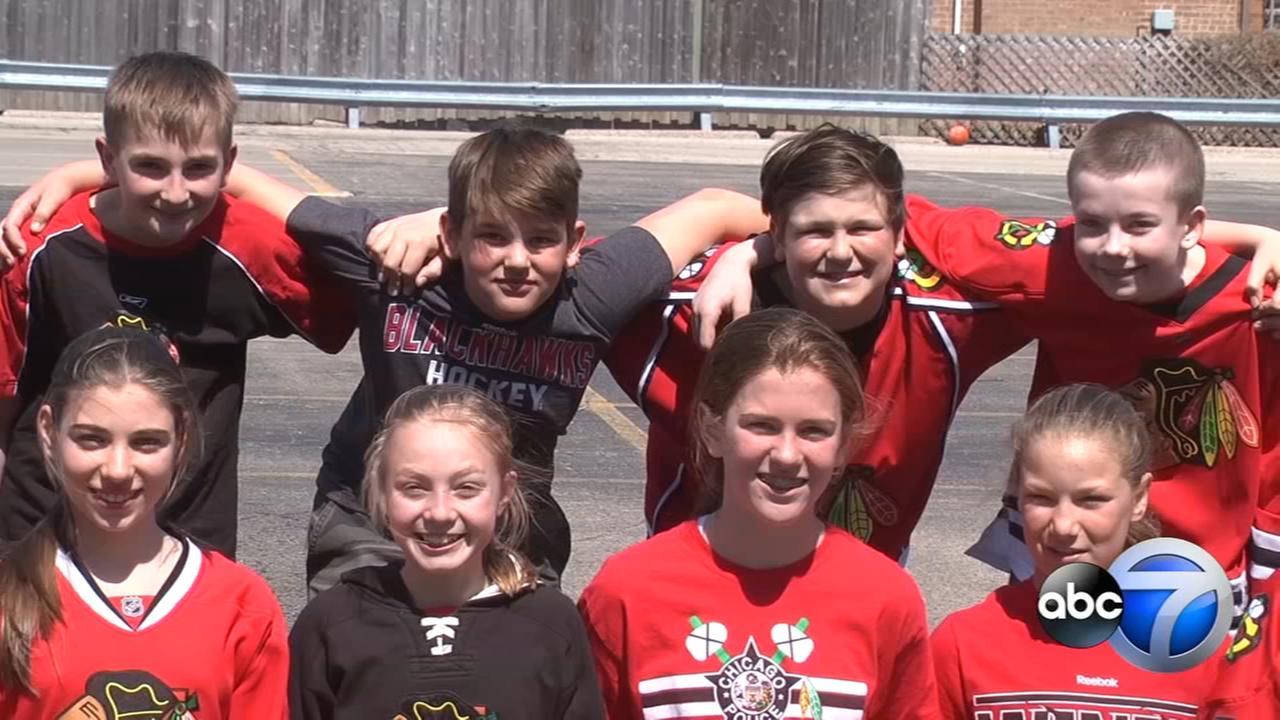 Edison Park school raises money for Humboldt Broncos families