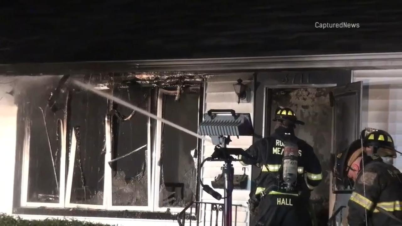 Rolling Meadows house fire injures elderly woman, son