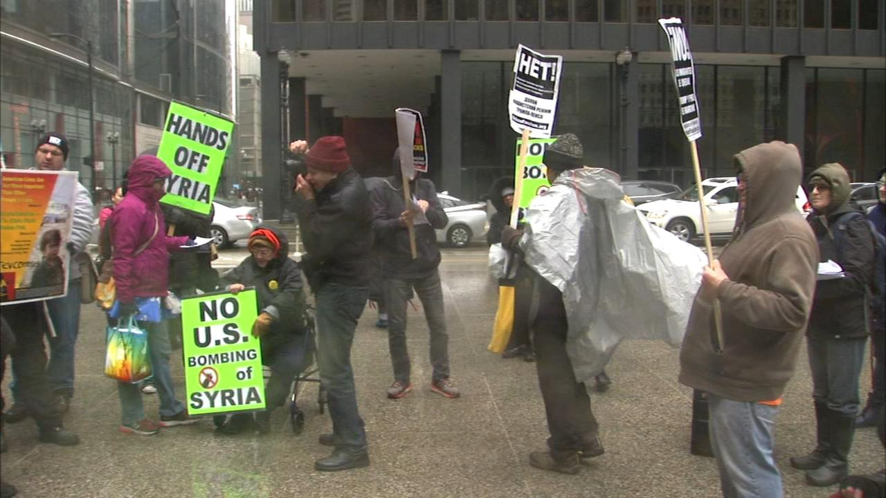 Chicago area residents react to Syria strike