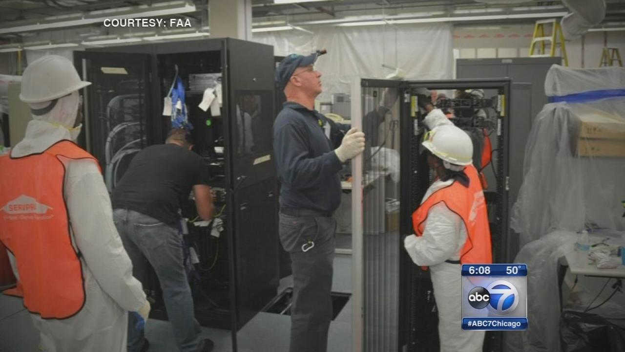 FAA official, politicians tour damage at Aurora facility
