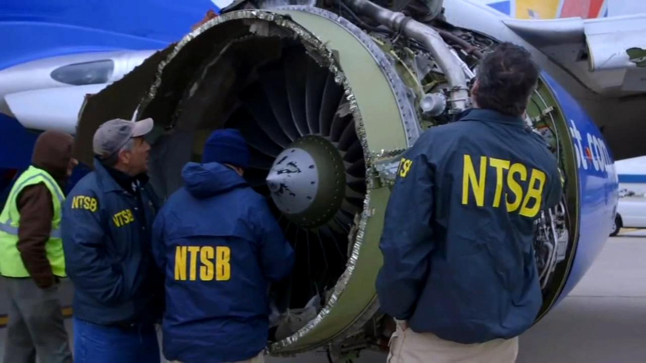 Blown Southwest jet engine showed metal fatigue, NTSB says