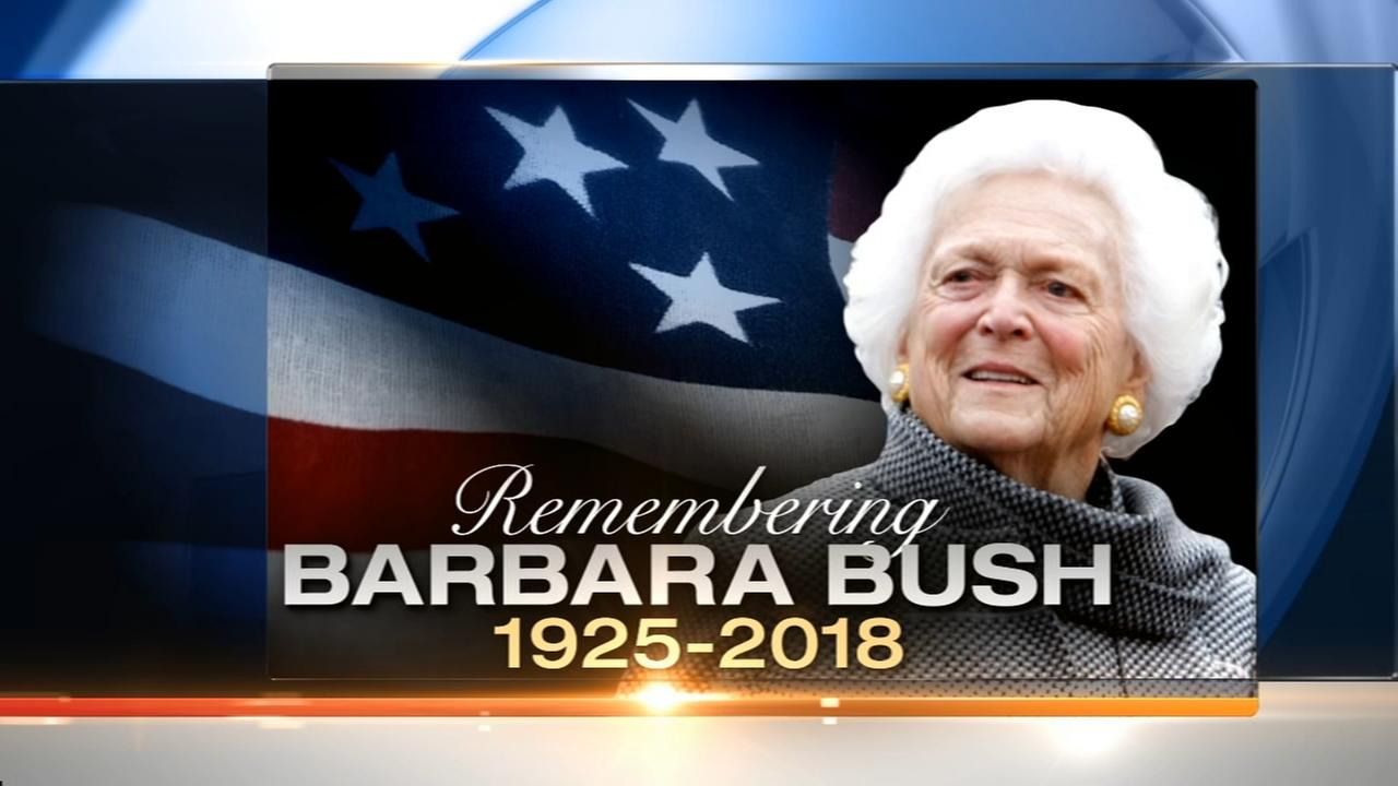 Barbara Bush remembered at funeral