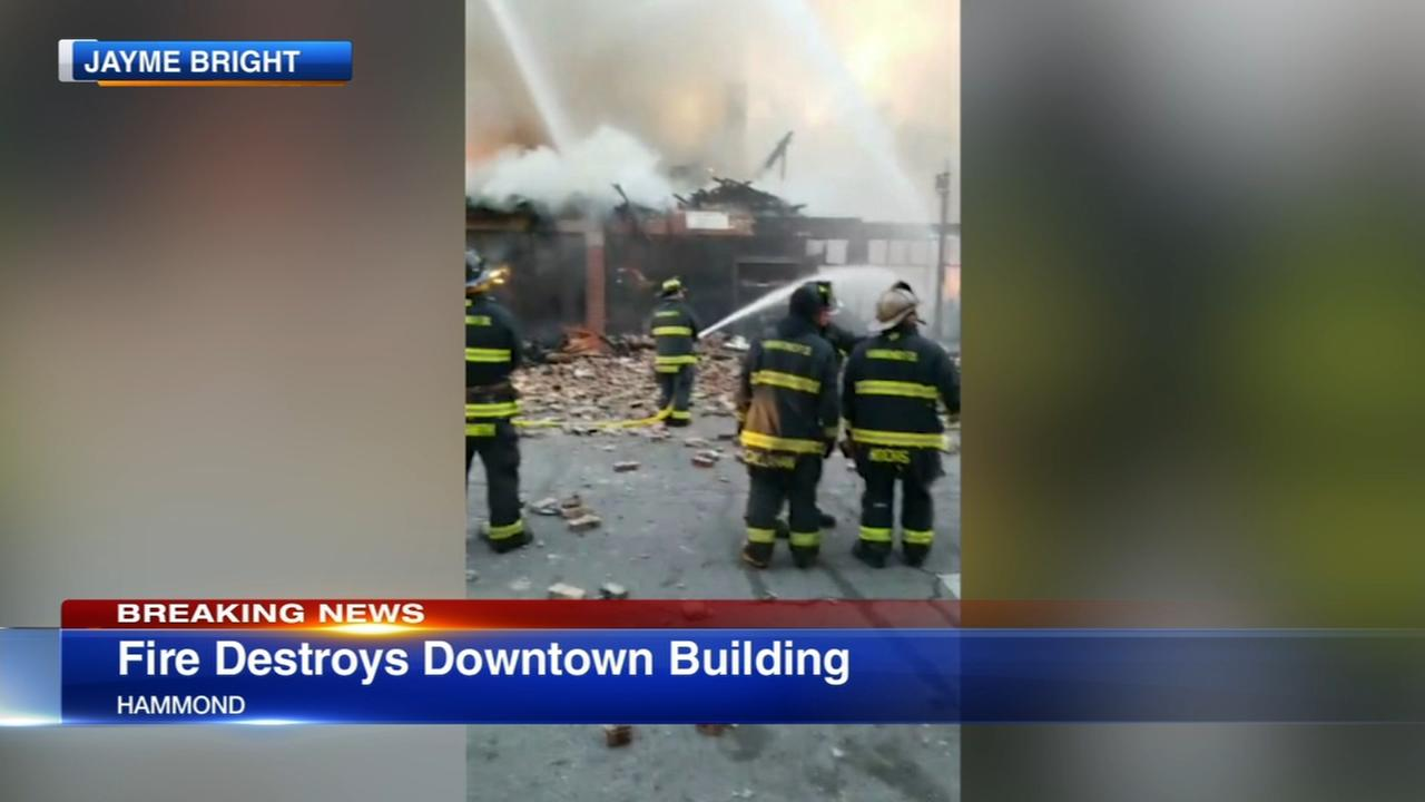 Fire destroys downtown Hammond building