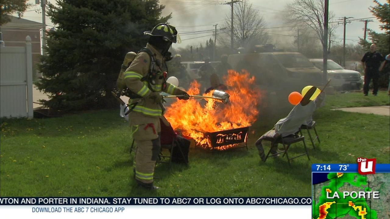 Glendale Heights fire officials emphasize safety after fire pit explosion injures 12