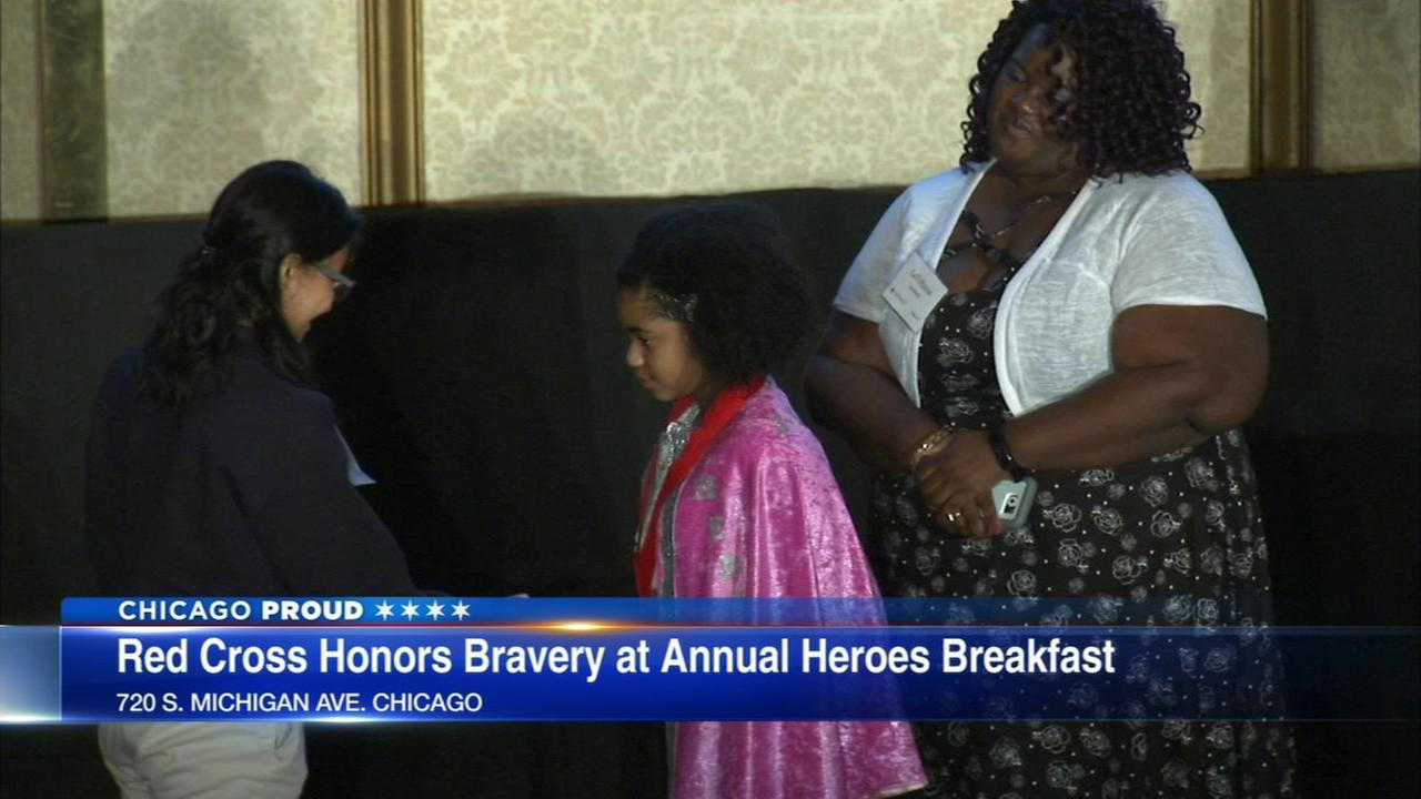 Red Cross honors 9-year-old girls bravery