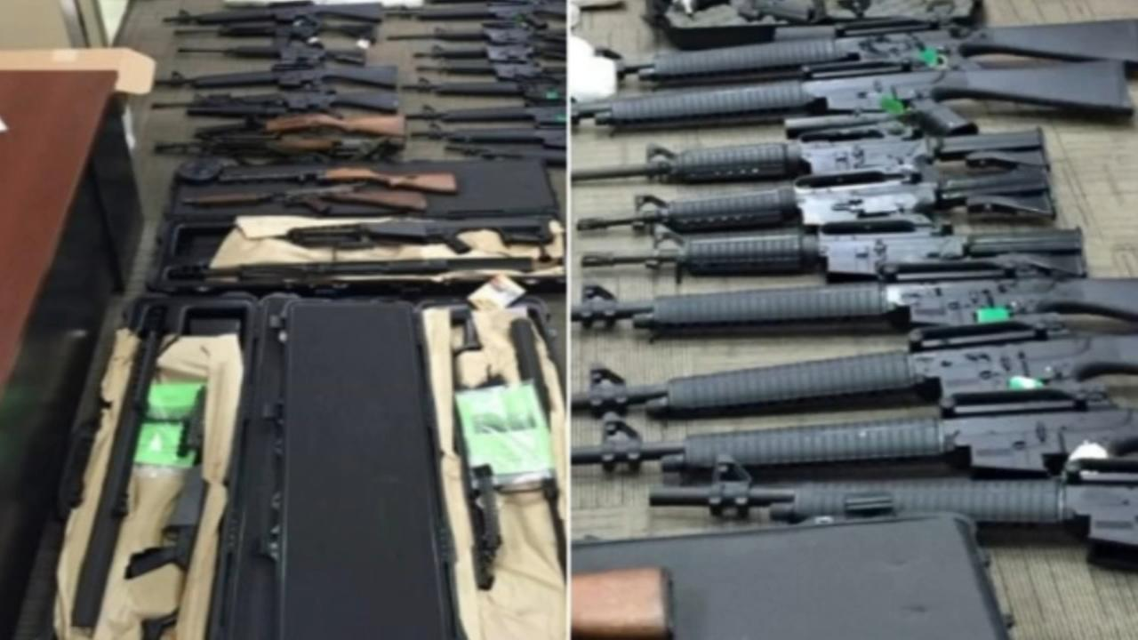 Guns found in suburban storage unit allegedly linked to Mexico cartel