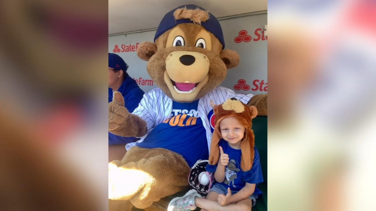 Cubs mascot helps raise money in memory of girl battling cancer