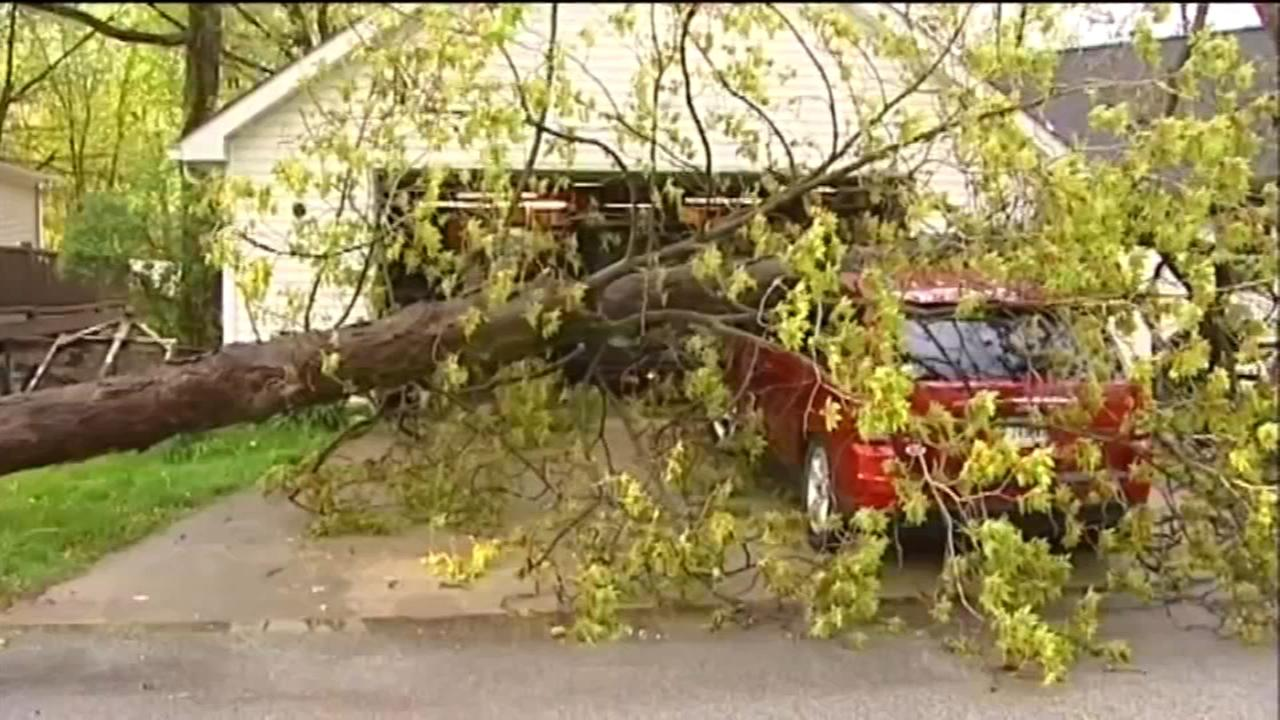 Sudden storms cause bursts of damage before dissipating