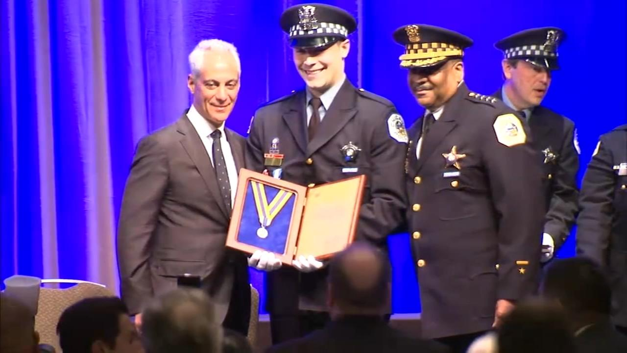 CPD officers honored for bravery in Back of the Yards shootings
