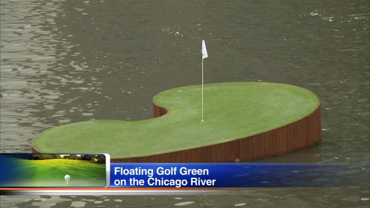 Tonki Kukoc, Danielle Kang take aim at floating golf green in Chicago River
